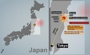 Japan - Karte mit dem Epizentrum des Erdbebens  (Foto: © gurgenb/Fotolia)